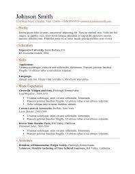 Free Resume Template Doc Resume Doc Format Free Format For Resume Resume Cv Template Free