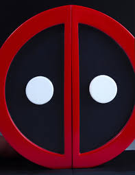 Book End Deadpool Logo Bookend Set Collectible Gentle Giant