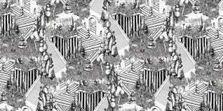 contemporary wallpaper linen vinyl nature pattern utopia