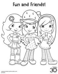 free coloring pages of all strawberry shortcake coloring pages