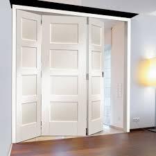 Interior 4 Panel Doors Shaker 4 Panel White Pre Primed Clear Glazed Bi Fold