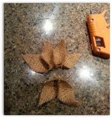 how to make burlap poinsettia christmas ornaments poinsettia
