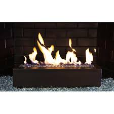golden blount 24 inch alpine linear burner with decorative black