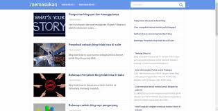 blogger atau blogspot memasukan
