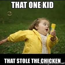 Running Kid Meme - that one kid that stole the chicken running girl meme generator
