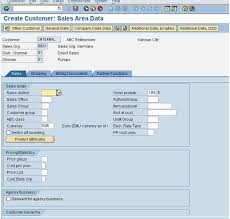 Sap Material Master Tables by Creating A Customer Master In Sap