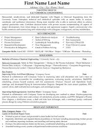 Entry Level Chemist Resume Sle Resume For Chemical Engineer 28 Images Best Resume In