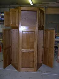 kitchen pantry cabinet oak oak corner pantry with lots of doors no digging for things
