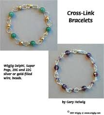 beads wire bracelet images Cross link beads and wire bracelets pg 1 made with wigjig jpg