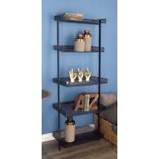 5 Tier Ladder Shelf Black Az Home And Gifts Nexxt Hadfield 5 Tier Wood Leaning Wall Shelf In