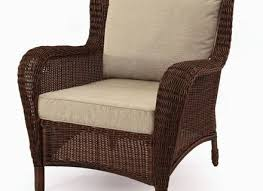 Outdoor Wingback Chair Wicker Dining Chair Outdoor Bowed Front Dining Chair Brown
