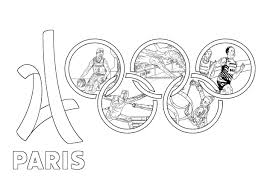 olympic games paris 2024 olympic and sport coloring pages for