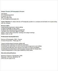 Photography Skills Resume Sample Photography Resume 8 Examples In Word Pdf