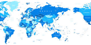 Free Vector World Map by World Map Asia In Center Highly Detailed Vector Illustration