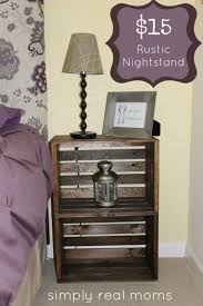 Making Wooden End Tables by Best 25 Crate Nightstand Ideas On Pinterest Diy Nightstand