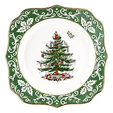 spode tree embossed scalloped plate gold