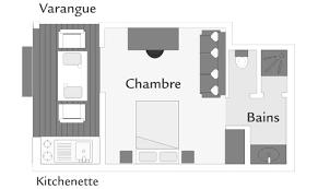 plan d une chambre d hotel bungalow kitchenette iloha seaview hotel la réunion