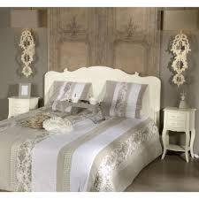 deco chambre romantique tête de lit 1 place en acajou blanc romantique apolline amadeus