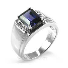 model cincin blue safir cincin perak koorsim blue sapphire pusat cincin kawin perak
