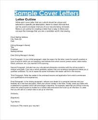 cover letter outline free cover letter template 50 free word pdf