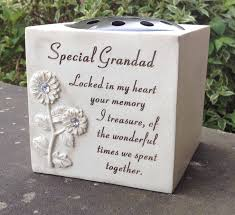 grave flower pot bowl grandad funeral flowers