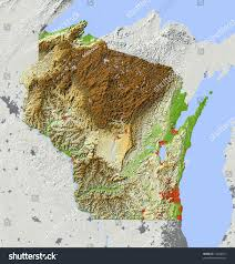Wisconsin Gis Maps by Elevation Map Wisconsin Wisconsin Map