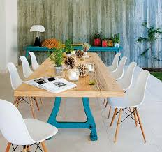 Teal Dining Table Combining Country Dining Tables With Modern Chairs Is Trendy