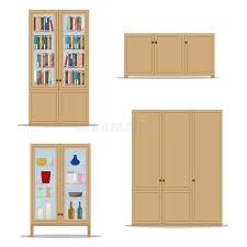 lo scaffale insieme di legno classico dell interno con l armadietto lo