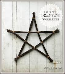 giant rustic star wreath artzycreations com