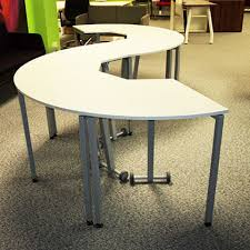 S Shaped Desk Segment Modular Tables Wave Office Ltd