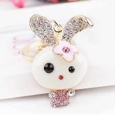 cute key rings images Fashion trinket cute rabbit key chains car keychain animal jpg