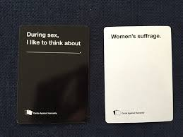where to buy cards against humanity feminists play cards against humanity and let s just say the