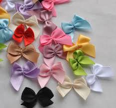 satin ribbon flowers 20pcs mini satin ribbon flowers bows gift craft wedding decoration