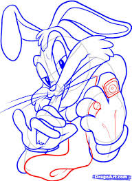 how to draw gangster bugs bunny step by step cartoons cartoons
