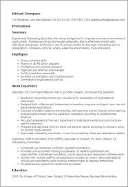 Office Manager Resume Sample by Professional Onboarding Specialist Templates To Showcase Your