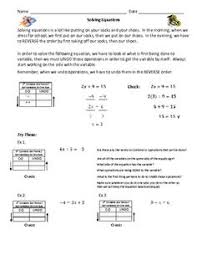 great step by step lessons on solving algebraic equations