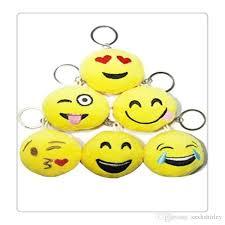 keychain favors emoji mini plush pillows wedding keychains lovely emoji smiley