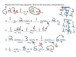 showme balancing chemistry equations