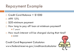 Formula Credit Card Minimum Payment Budgeting For College Credit Cards Credit Reports Ppt