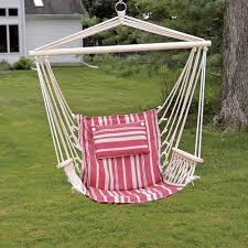 Hammock Backyard Backyard Creations Hanging Hammock Chair With Pillow At Menards