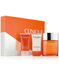 clinique 3 pc happy for him set gifts value sets
