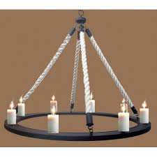 Wrought Iron Chandelier Uk Wrought Iron Chandelier Complete With Candles And Ropes Avalon