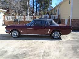 1965 Mustang Black Classic 1965 Mustang Convertable Maroon With Tan Interior Black