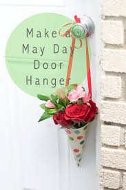 a may day tradition make a flower door hanger for all of your