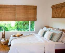 Roman Shades Over Wood Blinds Blackout Bamboo Shades U0026 Natural Shades Shades The Home Depot