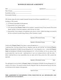 doc 9001165 roommate agreement template u2013 40 free roommate