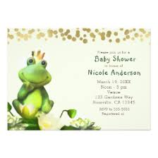 frog baby shower frog baby shower invitations announcements zazzle