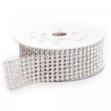 discount wedding supplies silver rhinestone ribbon with stones 1 3 8 x 60 5 small