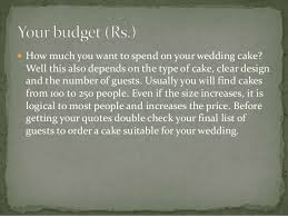 the basics for your wedding cakes