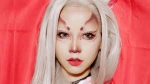 Pink Halloween Makeup by Fox Halloween Makeup L Kitsune Mask Inspired Youtube